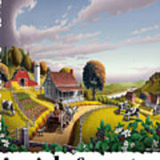 Amish Country - Appalachian Blackberry Patch Country Farm Landscape 2 Poster