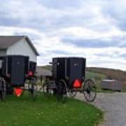 Amish Country Carts Autumn Poster