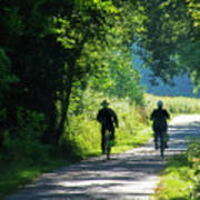 Amish Couple On Bicycles Poster