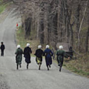 Amish People Visiting Middle Creek Poster