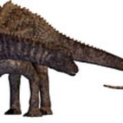Ampelosaurus Armored Dinosaur Poster
