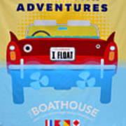 Amphicar Adventure Sign Poster