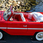 Amphicar Red  Poster