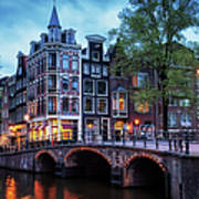 Amsterdam At Twilight Poster
