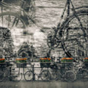 Amsterdam Bicycle Nostalgia Poster
