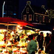 Amsterdam Flower Market Poster