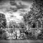 Amsterdam In Monochrome  Poster