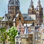 Amsterdam Holland Poster by Irina Sztukowski