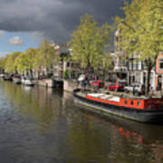 Amsterdam Prinsengracht Canal Poster