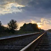 Amtrak Railroad System Poster by Carolyn Marshall