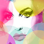 Amy Portrait Pink Yellow  Poster