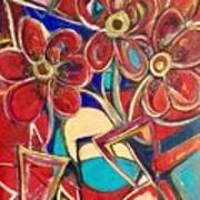 An Abstract Floral Poster