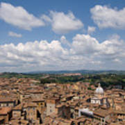 An Aerial Of Sienna, Tuscany Poster by Joel Sartore
