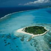 An Aerial View Of Saipan Island Poster