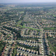 An Aerial View Of Urban Sprawl Poster