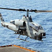 An Ah-1w Super Cobra Helicopter Poster