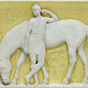 An Amazon Watering Her Horse, Rome Poster