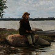 An Angler Ca. 1890 Poster
