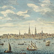 An East Prospective View Of The City Of Philadelphia Poster