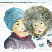 An Eskimo Mother And Child Poster
