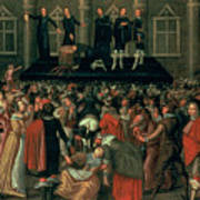 An Eyewitness Representation Of The Execution Of King Charles I Poster