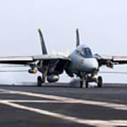 An F-14d Tomcat Makes An Arrested Poster