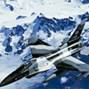 An F-15c Falcon From The 18th Aggressor Poster
