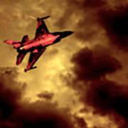 An F-16 Flies Through Hell Poster