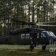 An Hh-60 Pave Hawk Evacuates Injured Poster