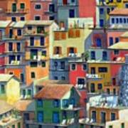 An Italian Village Poster
