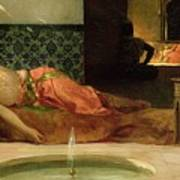 An Odalisque In A Harem Poster by Benjamin Constant
