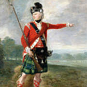 An Officer Of The Light Company Of The 73rd Highlanders Poster by Scottish School