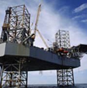 An Oil And Gas Drilling Platform Poster