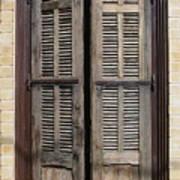An Old Door In Neve Tzedek Tel Aviv Poster