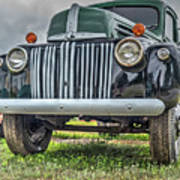 An Old Green Ford Truck Poster