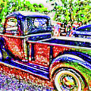 An Old Pickup Truck 3 Poster