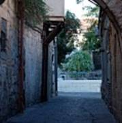 An Old Street In Jerusaem Poster