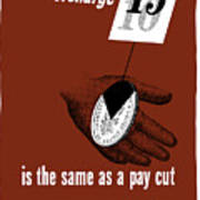 An Overcharge Is The Same As A Pay Cut Poster