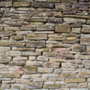 An Uneven Rock/stone/brick Wall Poster