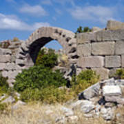 Ancient Bergama Acropolis Ruins Poster