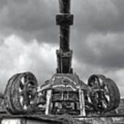 Ancient Cannon In Black And White Poster