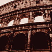 Ancient Colosseum, Rome Poster