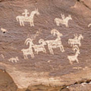 Ancient Hieroglyphics In Arches National Park Poster