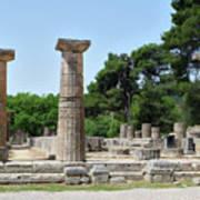 Ancient Ruins Wide Columns Poster