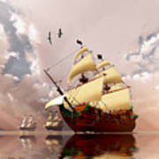 Ancient Ships Poster