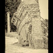 Ancient Wall Of Ostia Antica Poster