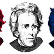 Andrew Jackson Red White And Blue Poster
