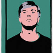 Andy Warhol Self Portrait 1964 On Green - High Quality - Stamp Edition 2012 Poster