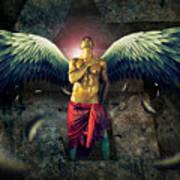 Angel Body Art Poster