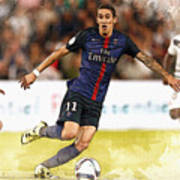 Angel Di Maria Controls The Ball Poster